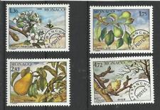 Monaco Préo** YT 98/101  arbre flore fruits poirier poires