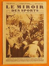 Le Miroir des Sports 474 du 19/3/1929-Chamt France cyclo-pédestre 1er C.Foucaux