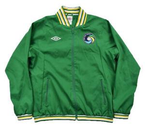 Umbro New York Cosmos Soccer Anthem Jacket Kelly Green Men's Pele