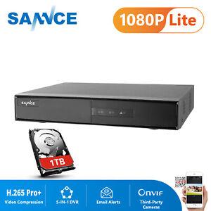 SANNCE 16CH 1080P Lite H.265+DVR Recorder CCTV Camera Home Security System 1TB