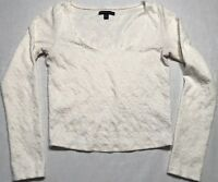 American Eagle Outfitters Women's White Long Sleeve Pattern Shirt Size M A804