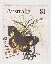 (DB786) 1983 AU $1 butterflies (D)