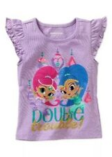NICKELODEON SHIMMER AND SHINE Toddler Girls Flutter Sleeve Tee Size 2T