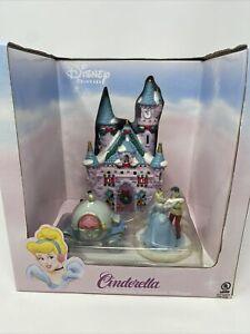 Disney Princess Cinderella Castle Porcelain Lighted Christmas Village Brass Key