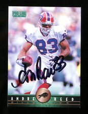 Andre Reed Signed 1997 Pro Line #31 Autographed Bills 22645