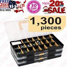 1300 Pieces Sae Standard Size Nut And Bolt Screw Assortment Hardware Kit Set