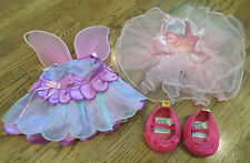 Build a Bear Outfit Set Fairy Princess Ballerina Tutu With Mary Jane Shoes Wings