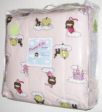 NEW TWIN SIZE PRINCESS CASTLES COMFORTER Pink Girls Blanket Bed Fairy Tale