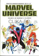 ENCYCLOPÉDIE MARVEL UNIVERSE 5 1995 -NEUF - FDP 0€ POUR le 2è VOLUME et+