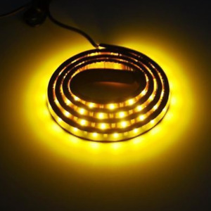 "Amber White 120SMD 48"" LED Strip Bar Turn Signal Light Running Parking Lights"