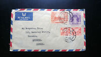 VERY RARE 1956 UNION OF BURMA COVER TO TORONTO CANADA UNIQUE DESTINATION