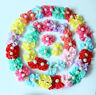 Dog Hair Bows Rubber Band Bowknot Nice Lace Pearls Pet Dog Grooming bows Topknot