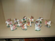 12 Beautiful Figures Elf with Unicorn 6 x Riding 6 x Seated 5,5 cm - 7,8 CM