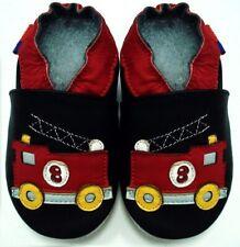 soft sole shoes minishoezoo firetrack black 4-5y US 12-13 chaussons bebe
