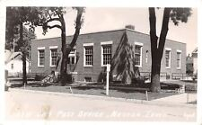 Nevada Iowa~New Post Office~Bicycle Leans on Steps~1943 Real Photo Postcard~RPPC