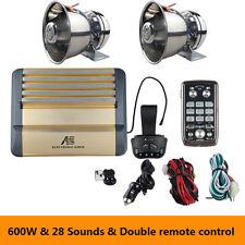 Police Siren High Power 600W DC12V Wireless Remote Megaphone Stainless Steel