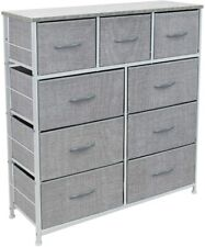 Furniture Storage 9 Drawers Chest Tower Unit for Bedroom Hallway Closet Office