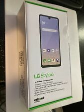 Brand NEW Holographic BLUE LG Stylo 6 LMQ730AM4 64 GB LOCKED for Cricket ONLY NR