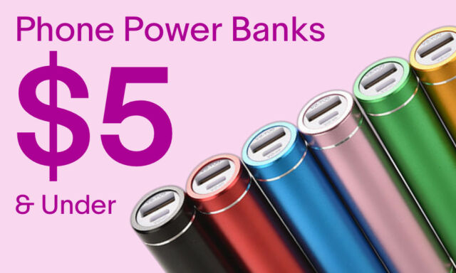 Cell Phone Power Banks under $5.00