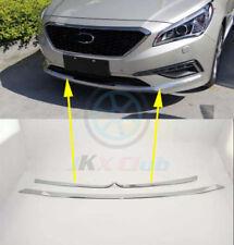 Fit For 2015-2017 Hyundai Sonata Chrome Front Bumper Fog Garnish Molding Trim