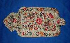 1920s Chinese Embroidered Silk Hot Water Bottle Cover - Bird & Floral Motif