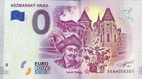 BILLET 0 EURO KEZMARSKY HRAD SLOVAQUIE 2019-1 NUMERO DIVERS