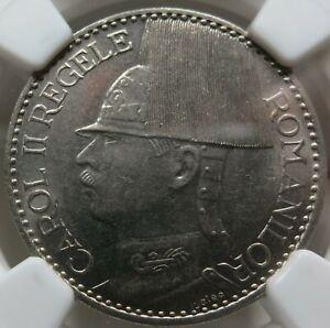 ROMANIA 50 lei 1937 NGC AU 58 UNC Mihai Superb Luster