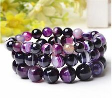 Bracelet Bangle 7.5''Jewelry6,8 ,10mm Aaa New Natural Gemstone Bead Stretch