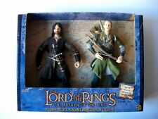 """THE LORD OF THE RINGS RETURN OF THE KING ARAGORN & LEGOLAS 11"""" FIGURES NEW BOXED"""