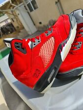 Air Jordan 5 Retro Raging Bull Red Suede Size 9.5 2009