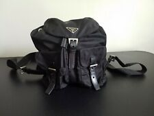 PRADA Logos Backpack Bag VELA SPORT NERO BZ6677 Black Nylon Excellent Condition