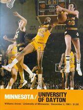1981 Minnesota Gophers vs Dayton Men's Basketball Program: Gary Holmes