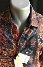 "ROBERT GRAHAM Mens NWT ""Hint of Color"" Limited Edition Shirt, Sz Lg, RT $398.00"