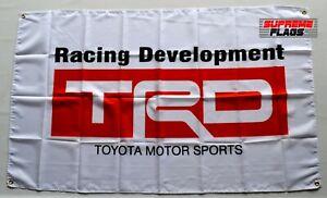 TRD Flag (3x5 ft) Banner Toyota Racing Development White