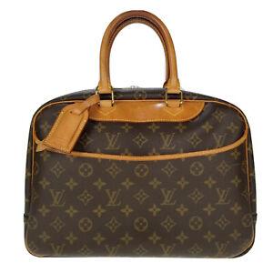 Louis Vuitton LV Monogram Deauville M47270 Handbag Ladies Used 7-30-F72