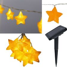 """Solar LED Lichterkette """"STARLY"""" mit 10 beleuchteten Sternen Länge 4,7m Heitronic"""