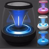 Mini Portable LED Bluetooth Speaker Wireless Bass For Smartphone Tablet P GiftE