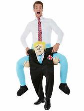 Piggy Back Boris Johnson Costume Adult Brexit Politician Carry Me Fancy Dress