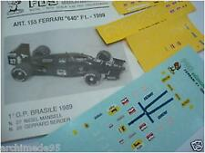 FERRARI F1/89 640 WINNER GP BRASILE 1989   DECALS 1/43
