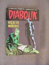 DIABOLIK ORIGINALE ANNO XXVI n°  2 - 1987 - RARO - OTTIMO