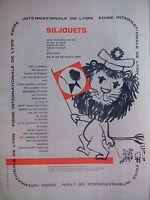 PUBLICITÉ SILJOUETS SALON INTERNATIONAL DE LYON DE JEUX ET JOUETS VOITURE ENFANT