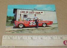 Tiny Lund #55 Hallmark Homes 1967 Ford Nascar Racing Vintage Postcard handout