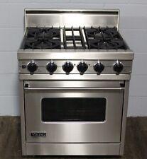"VIKING VDSC305-4BSS 30"" Professional Dual Fuel Range Oven 4 Burner Self Clean"
