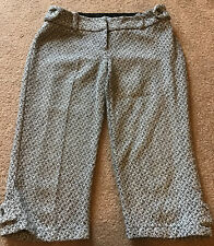 Closet Size 14 Black/grey Tweed Like Wooll Blend Cullottes