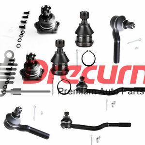 8PC Front Ball Joint Tie Rod Ends SET For Nissan 95 - 97Pickup RWD 86-94 D21 RWD