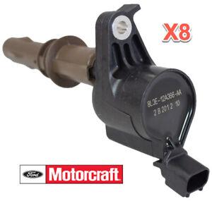 8 Ignition Coils FORD MOTORCRAFT OEM # 8L3Z12029A DG521 Brown 4.6L 5.4L V8