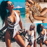 Sexy Women One-pieced Leopard Printed Monokini Push Up Padded Swimsuit Beachwear