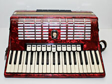 EXCELLENT Weltmeister Diana 120 bass 16 regs German Piano Accordion Red + Case.