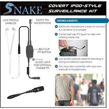 Quick Release Covert SNAKE Ipod-Style Headset for Hytera PD782 PD780 PD581