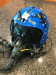 HGU-33 Custom Paint Fighter Helmet with MBU-5 Oxygen Mask